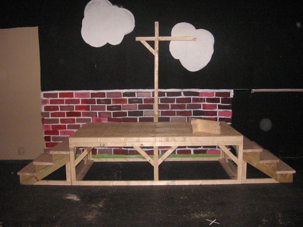 8 4x8 platform with two sets of steps