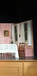 Arsenic and old lace windows and window seat